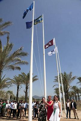 Acto de entrega de las banderas azules de la Comunitat Valenciana