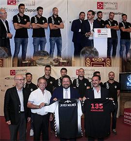 La Diputación recibe al Club Deportivo Castellón tras su ascenso a 2ª B