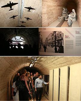 Acto de inauguración del refugio antiaéreo de la plaza Tetuán de Castellón como museo