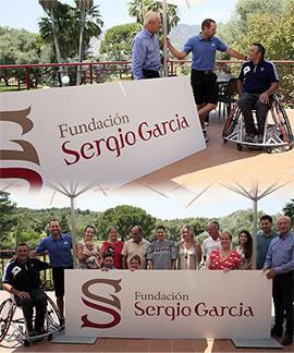 La Fundación Sergio García dona una silla de ruedas deportiva a Pedro Gil Albalat