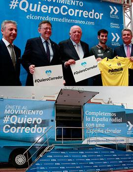 Presentación de la campaña #QuieroCorredor en Castellón