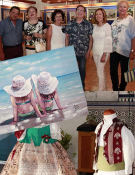 Exposición de trajes regionales y pintura en el Edificio Moruno del Grao