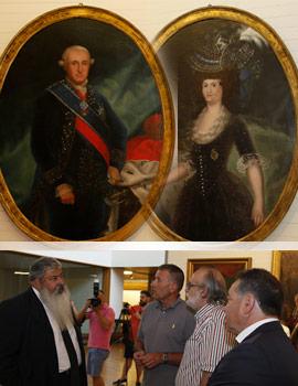 Retratos del rey Carlos IV y de la Reina Maria Luisa de Parma piezas invitadas en el Museo de Bellas Artes