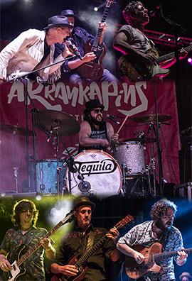 Despedida de Tequila en el festival de música Arrankapins en Castellón