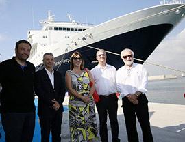 El crucero de la compañía naviera Saga Cruises, hace escala en PortCastelló