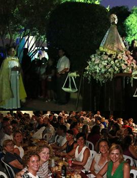 Celebración de la  fiesta de la Mare de Déu del Lledó en Sant Francesc de la Font