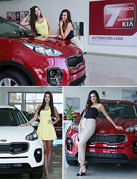 Sara e Isabel con Kia Automoción Cano en el certamen de Miss World Spain