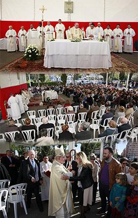 Acto religioso en el Día de Todos los Santos en Castellón