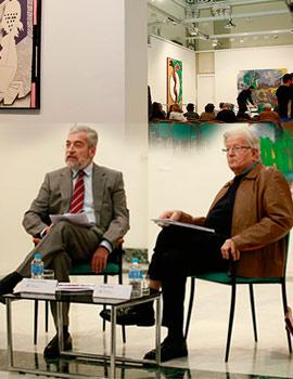 Coloquio Manuel Chirivella y Felipe Garín en la Sala San Miguel de la Fundación Caja Castellón