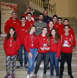 Recepción en el ayuntamiento de Castellón al Real Club Náutico Kayak de Mar