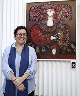 Éxito en la exposición de María Griñó en el Casino Antiguo de Castellón