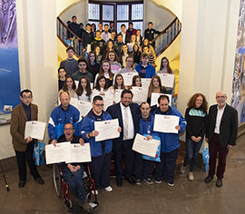 Conferencia de Laia Cañes en la entrega de becas de Diputación a 55 jóvenes deportistas