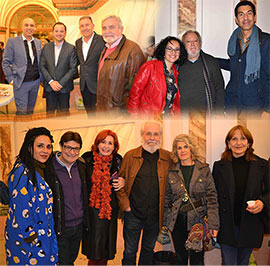 Los artistas de Castellón cumplen con la tradición de su brindis navideño