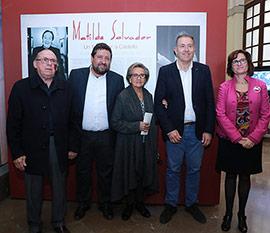 Inauguración de la exposición de la Diputación homenaje a Matilde Salvador