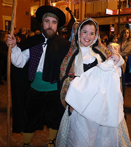 Pasacalles hacia la representación del Betlem de la Pigà