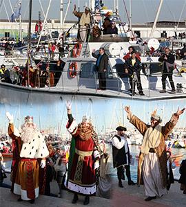 Los Reyes Magos desembarcan en el Grao de Castellón