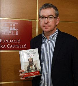 Charla de Santiago Posteguillo en la Fundación Caja Castellón