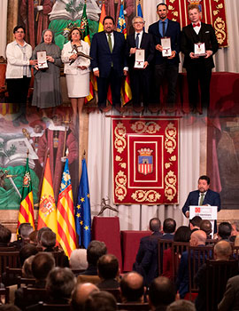 Acto de entrega de la Alta Distinción de la Diputación en el Día de la Provincia de Castellón
