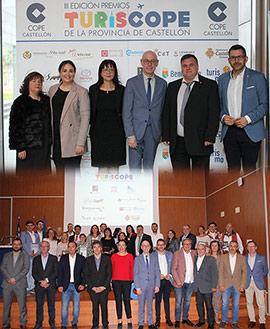 Entrega de los III Premios TurisCope de la provincia de Castellón