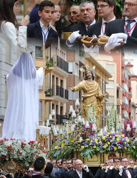 La amenaza de lluvia acorta el recorrido de la Procesión del Encuentro en Castellón