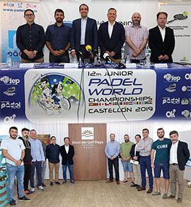 Presentación del mundial de menores de pádel en el Hotel del Golf Playa