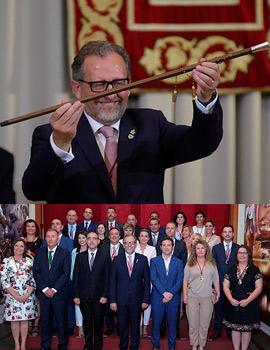 Acto de toma de posesión de la corporación provincial y José Martí como nuevo presidente de la Diputación de Castellón