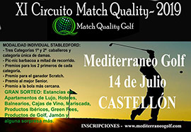 XI Circuito Match Quality Golf - 2019