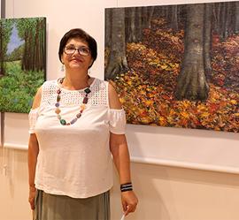 Inauguración de la exposición pictórica de Stela Ana Albu