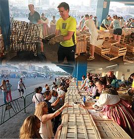 Tradicional torrà de la sardina del Grao de Castelló