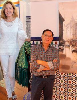 Pepe Mora y Alejandrina Pitarch regresan a la sala Moruna.  Pintura e indumentaria costumbrista para luchar contra el cáncer