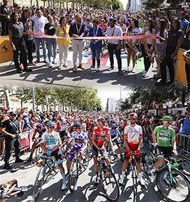 Paso de La Vuelta Ciclista a España por Onda, Castellón