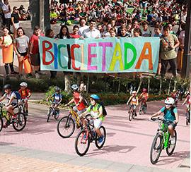 Bicicletada con motivo de la Semana Europea de la Movilidad en Castelló