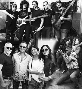 Instantáneas urbanas con la Five Cover Band en Castellón