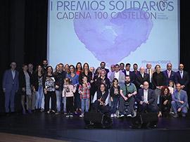 Nueve galardonados en los I Premios Solidarios ´Cadena 100 Castellón´
