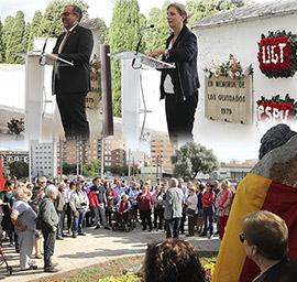 Acto de homenaje a las víctimas del franquismo en el cementerio civil de Castelló