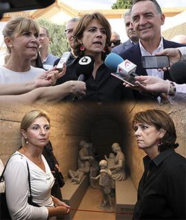 La ministra de justicia Dolores Delgado visita Castelló en el acto de homenaje a las víctimas del franquismo