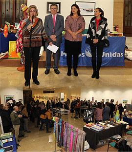 Inauguración del mercadillo solidario de Manos Unidas en Castelló