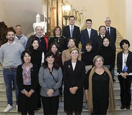 Recepción en el Ayuntamiento de Castelló a la delegación de Ube City
