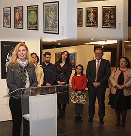 Inauguración de la exposición ´A Tres Tintes´ con los carteles de los 75 años de la Magdalena