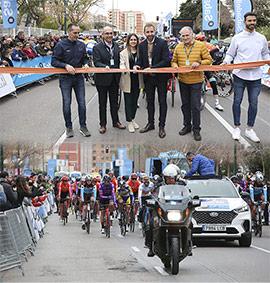 Salida desde Castelló de la Vuelta Ciclista a la Comunitat Valenciana