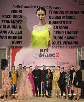 Inauguración del proyecto expositivo de moda ARTENBLANC#2