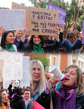 Manifestación del Día Internacional de la Mujer en Castelló
