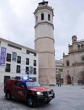 La UME realiza labores de desinfección en Castelló