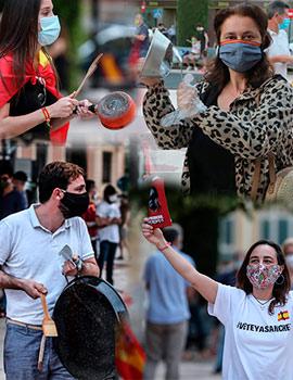 Caceroladas de protesta en Castelló