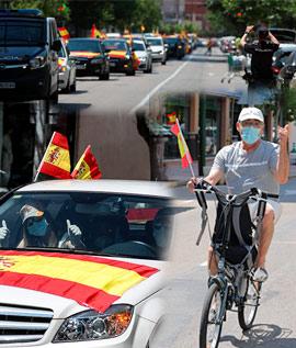 Caravana de vehículos de VOX en Castellón