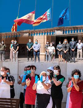 Castelló se suma al luto oficial por las víctimas de la covid-19
