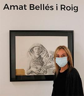Breve recorrido por la exposición de obras de Amat Bellés en el Espai Cultural les Aules