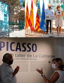 Villa Elisa se abre a Picasso. Exposición dibujos y fotografías