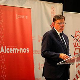 Presentación del acuerdo de recuperación de la Comunitat Valenciana, Alcem-nos