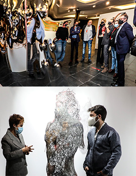 Inauguración de la VII Edición de Marte, Feria de arte contemporáneo de Castellón